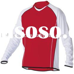 2012 Newest Customized Mens Piping Style Casual Long Sleeve Soccer Jersey Uniform