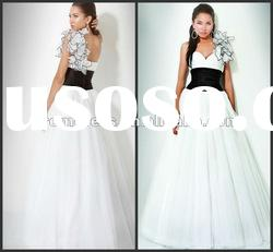 2012 Top Sale,A-line and Organza and One Shoulder Evening Dress,P-ED-353