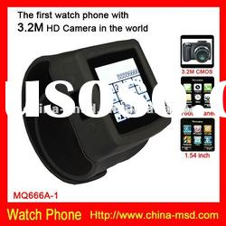 2012 new fashionable touch screen watch phone with HD camera and 8G TFcard