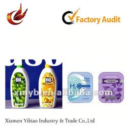 2012 promotional adhesive shampoo label design for printing