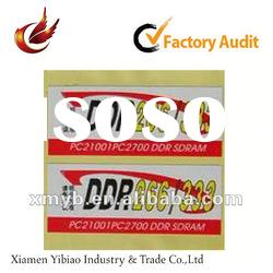 2012 promotional self adhesive label for printing