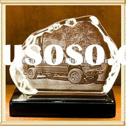 3D Laser Etched Crystal For Home Decor & Gifts