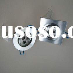 3W High Power Recessed LED Ceiling Light with round and square type 3W 5W 7W 9W 12W 15W