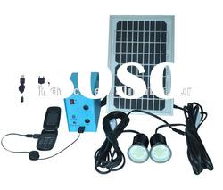 5W LED solar home lighting system(light 2 lamps for 6 hours and with USB charge mobile)
