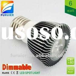 6w/3*2w 110v/220v high power dimmable gu10 led spot light