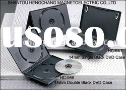 7mm 9mm14mm Single&Double DVD CASE with black color