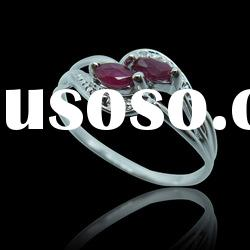 925 Sterling Silver Ruby Rings Jewelry
