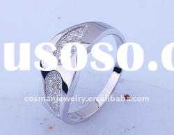925 sterling silver ring jewelry with rhodium plating