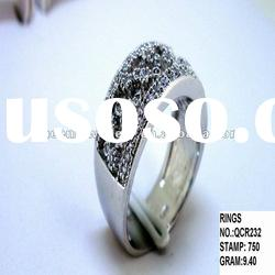 925 sterling silver rings with cz QCR232