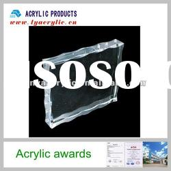 Absolutely clear rectangle models acrylic trophies medal plaques