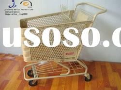 American style plastic basket shopping cart for supermarket