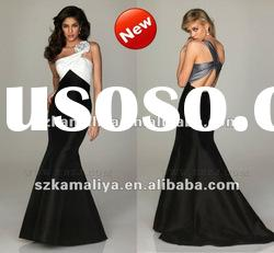 Best Selling Noble One Shoulder Strap Outstanding Hand-made Floor-Length Angel Prom Dresses