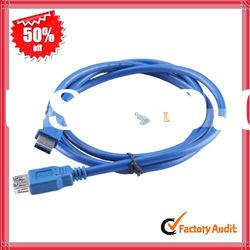 Blue USB 3.0 A Male To A Female Cable