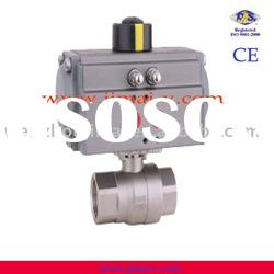 CE, ISO, pneumatic acting female npt 2pc cf8m ball valve