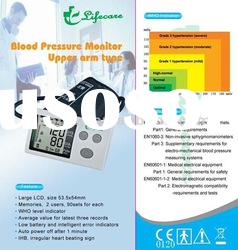 CE automatic upper arm blood pressure monitor