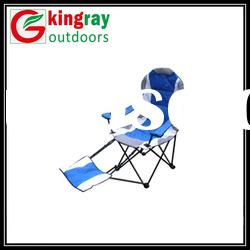 Camping outdoor folding chairs with footrest