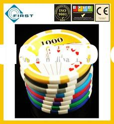 Clay poker chips sample