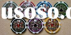 Color poker chips
