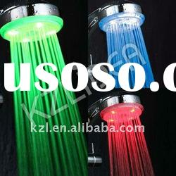 Colour changing led shower head with water saving function