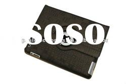 Crocodile skin PU leather case for the new ipad,Newest design~^!