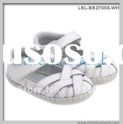 Cross design baby sandals, grils mary jane shoes, soft sole leather baby shoes LBL-BB24001BR