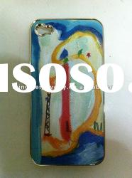Custom design hand made oil painting moonbay mobile phone case