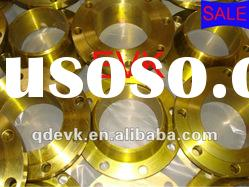 DIN stainless steel welding neck flange with yellow paint