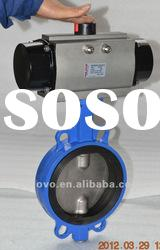 Ductile iron Pneumatic butterfly valve(wafer)