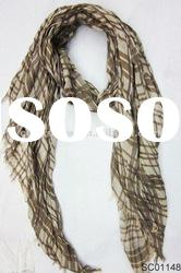 Fashion Checked Men Spring Scarf with Fringe