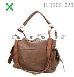 Fashion woman bags,brown smooth leather handbags,handmade bags-1206020