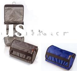 Folding travel hanging toiletry bag