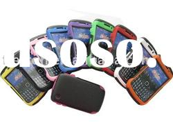 For blackberry 8520 New design Hard plastic with silicone inside skin Cover case
