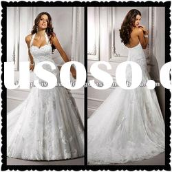 Halter Lace Wedding Dresses Bridal Gowns 2012 Cheap MS-058