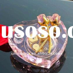 Heart with Roses Pink Crystal Musical Box for Giveaway Gifts
