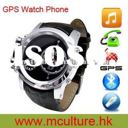 High quality quad band phone waterproof GPS watch mobile K355