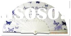 Hot sale 23CM plastic fabric fans for promotion gift