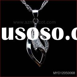 Hot sale 925 sterling silver pendant jewelry with CZ,wholesale metal pendants