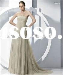LE38 2012 Hot Sale Custom Made Empire Sleeveless Beaded Tulle Mother Dress
