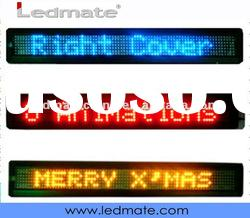 LED moving message sign for car with remote control