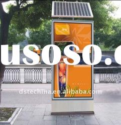 LED scrolling advertising light box ----- solar powered advertising equipment