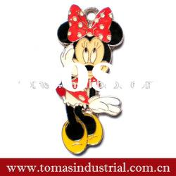 Lovely metal mickey mouse keychain for souvenir