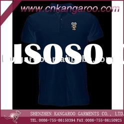 Men's short sleeve cotton polo shirt with embroidery