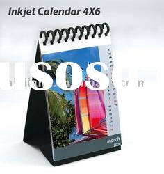 Mini-Color high glossy inkjet photo paper calendar, 4x6 size