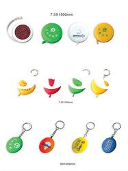 Mini measuring tape with keychain