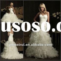 New Style Beautiful 2012 Sweetheart Classic Beaded Draped Wedding Dress Bridal Gown