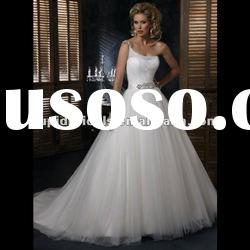 New arrival one shoulder beading tulle wedding dresses 2012 CBW11501