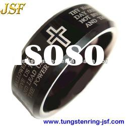 New style black plated tungsten wedding rings