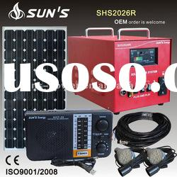 Off Grid Home Solar Power System 20W With DC Radio