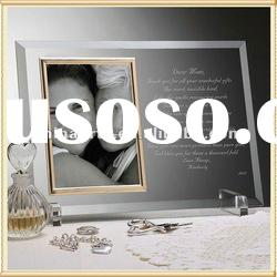 Optical Engraved Glass Picture Frame Wedding Photo Frame For Wedding Decoration