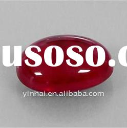 Oval Cabochon red synthetic ruby, corundum,precious stones, rough gemstones